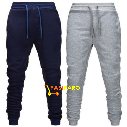 2-in-1 Thick Joggers Pant (Navy Blue & Grey)